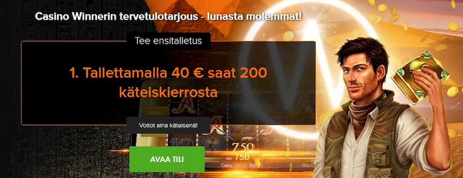 Casino Winner kasinobonus