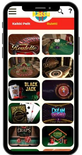 Kassu casinon mobiili
