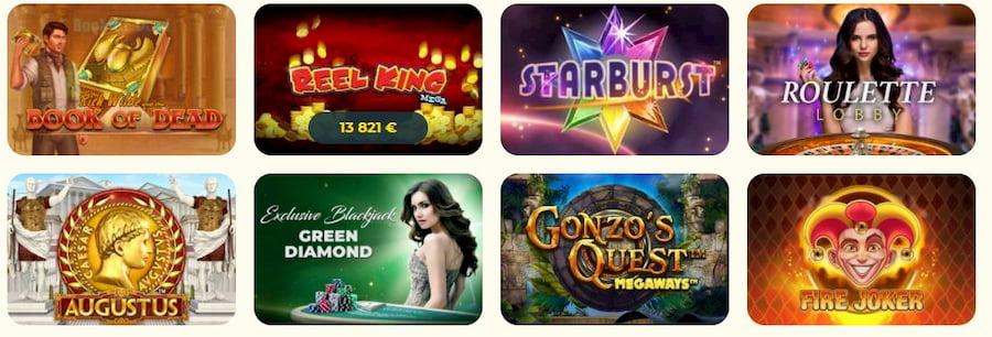 Kassu casinon pelit