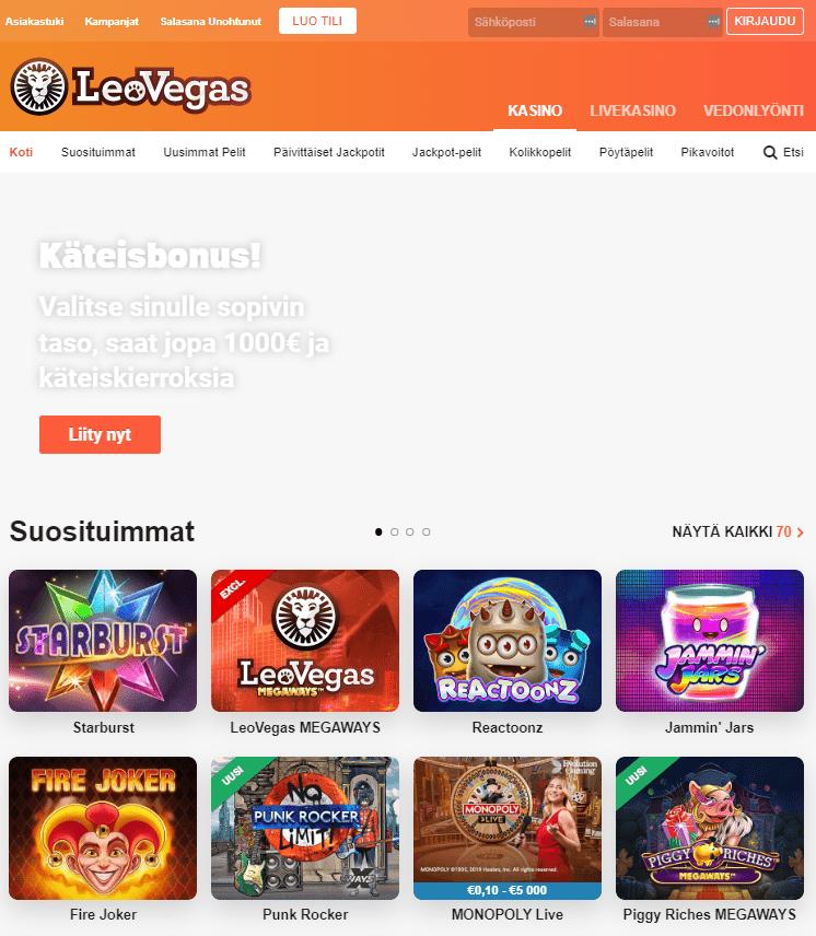 Kokemuksia Leo Vegas Casino