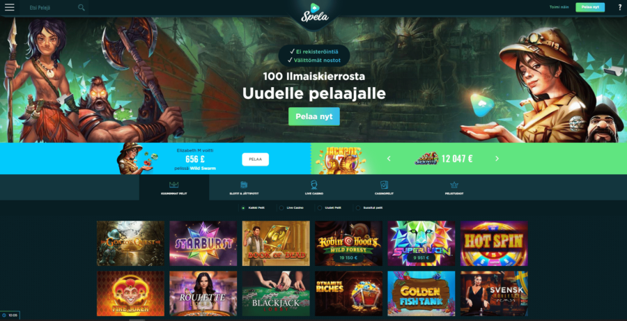 yleiskatsaus Spela Casino