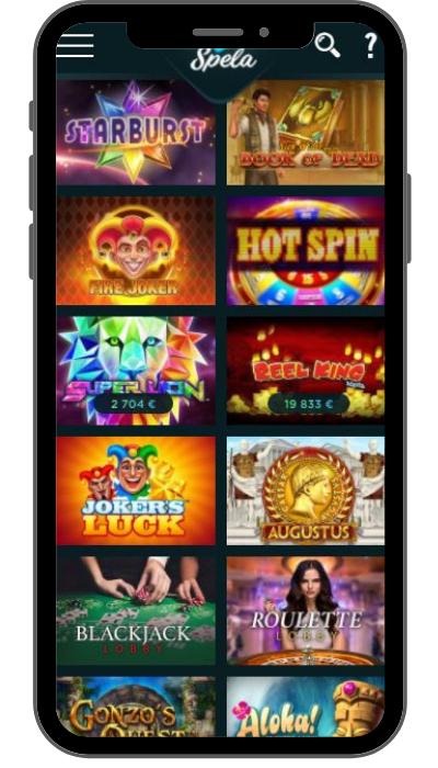 Spela Casino mobiili