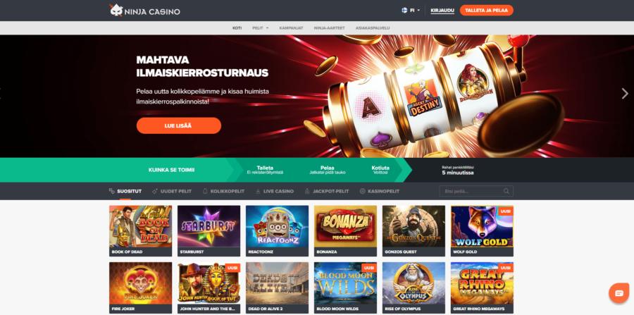 Pelit Ninja Casino