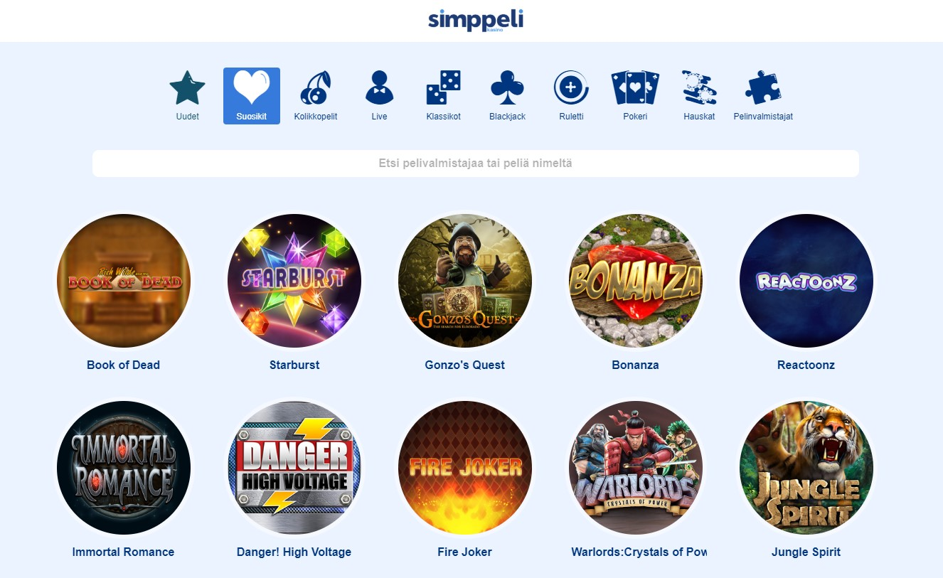Online-kasino lähtö- ja saapumisajat Simppeli